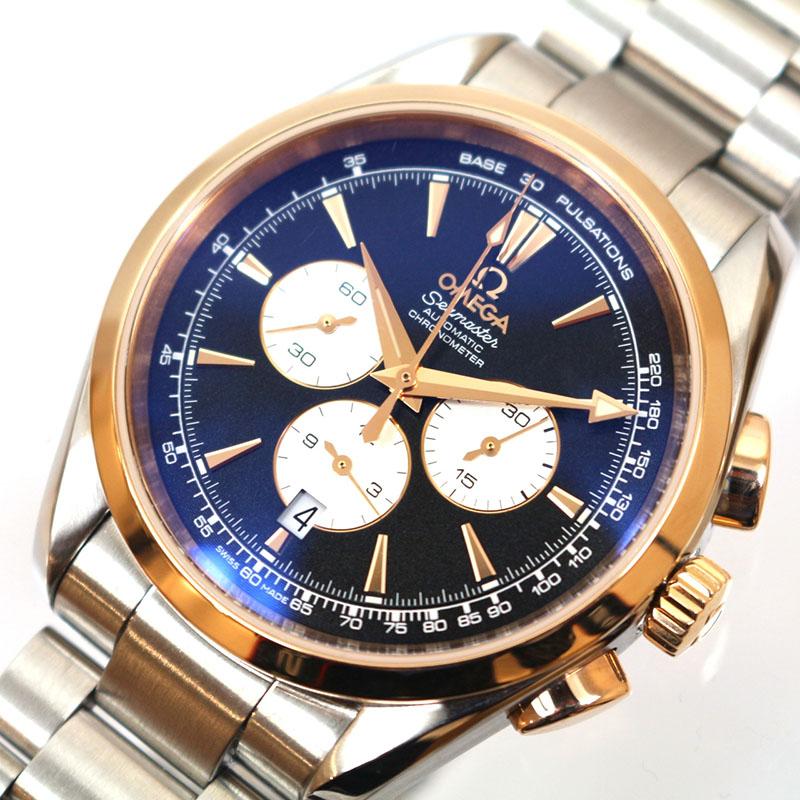 オメガ 腕時計 メンズ 送料無料 OMEGA 221.20.42.40.01.002 着後レビューで 超特価 中古 自動巻き シーマスターアクアテラ クロノグラフ