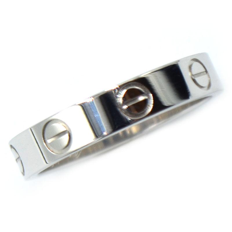 <title>大規模セール カルティエ リング 指輪 レディース 送料無料 Cartier ミニラブリング K18WG ジュエリー 中古</title>
