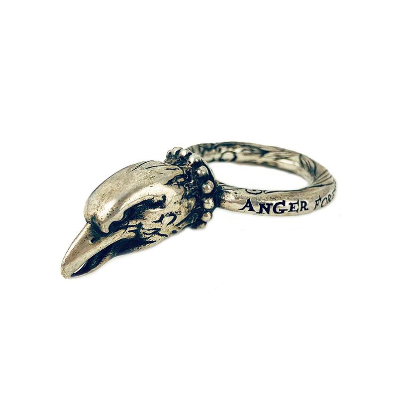 グッチ リング 再再販 指輪 ユニセックス 贈答品 送料無料 GUCCI シルバー イーグルヘッド アクセサリー 中古 アンガーフォレストリング