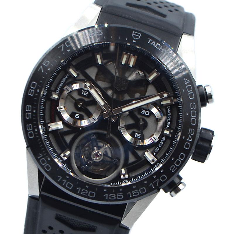 タグ ホイヤー 腕時計 メンズ 送料無料 チープ 春の新作シューズ満載 TAG CAR5A8Y.FC6377 HEUER ブラック 中古 自動巻き カレラホイヤー02Tトゥール