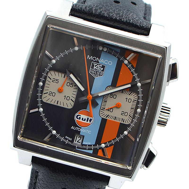 タグ ホイヤー 腕時計 メンズ 送料無料 TAG モナコ 自動巻き HEUER 店内全品対象 最新アイテム CAW2113 グレー 中古