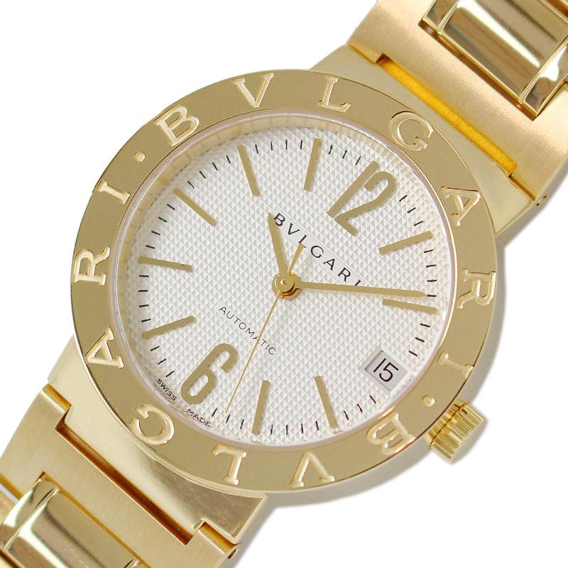 ブルガリ 腕時計 ユニセックス 送料無料 BVLGARI ブルガリブルガリ 自動巻き K18YG 中古 AL完売しました。 BB33GG