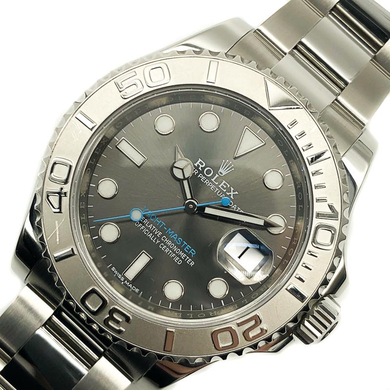 【爆売りセール開催中!】 ロレックス ROLEX ヨットマスターレジウム 116622 グレー 自動巻き ROLEX メンズ 腕時計 メンズ【 自動巻き】, ヤナイヅチョウ:e3a73f6c --- scrabblewordsfinder.net