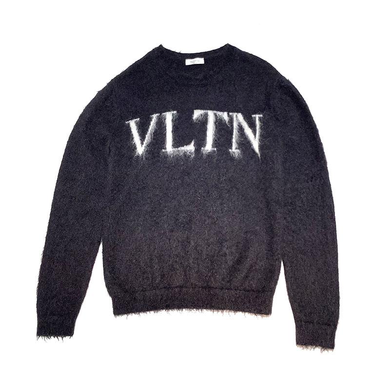 ヴァレンティノ セーター メンズ 送料無料 VALENTINO ギフト VLTN モヘアニット サイズ:S 中古 ブラック UV0KC12B6U5 メーカー再生品 20AW
