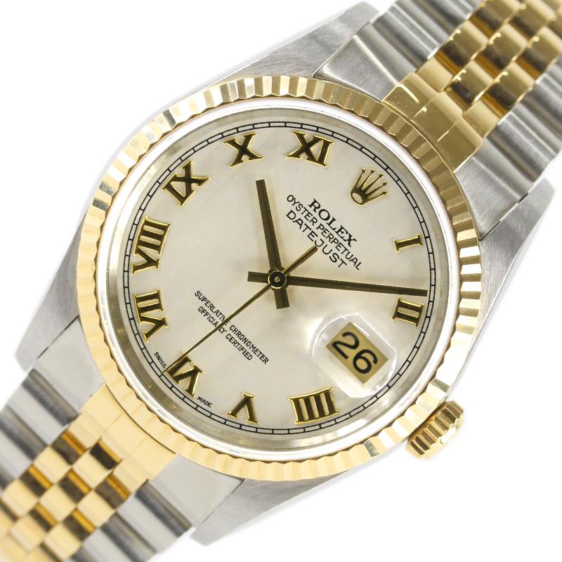 ロレックス 腕時計 メンズ 送料無料 今ダケ送料無料 ROLEX 16233 デイトジャスト 初売り 中古 自動巻き