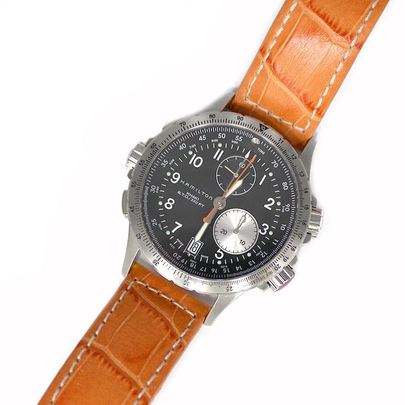 ハミルトン 腕時計 他 送料無料 HAMILTON カーキ 期間限定の激安セール メンズ 中古 H776121 公式サイト ブラック文字盤 クオーツ アビエーション