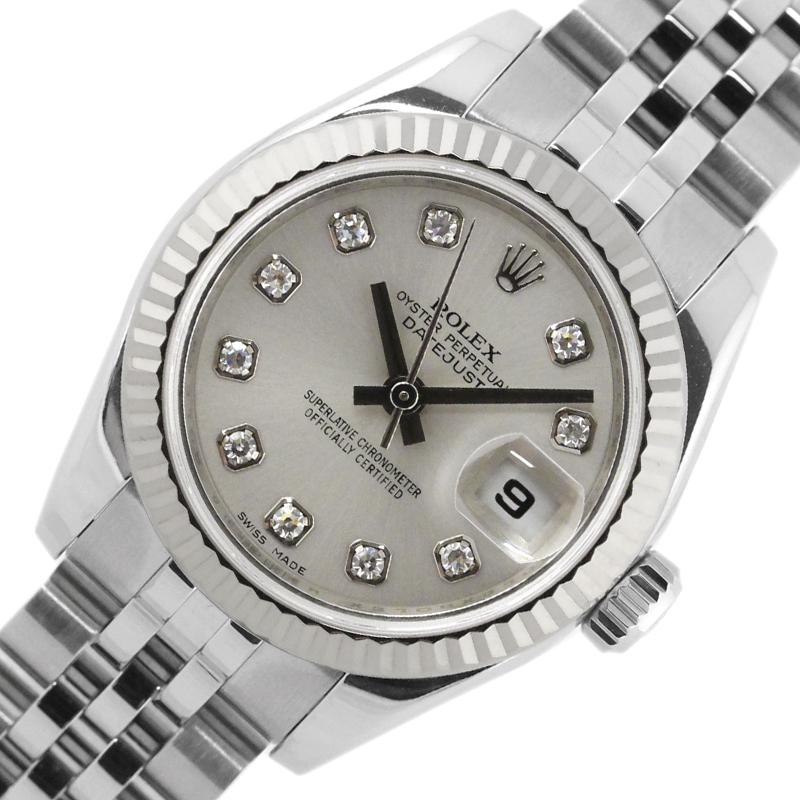 ロレックス 腕時計 レディース 送料無料 ROLEX 送料0円 デイトジャスト 自動巻き 低価格化 179174G 中古