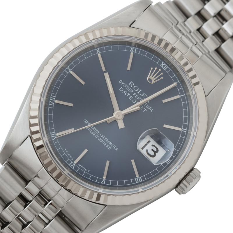 ロレックス 腕時計 メンズ 送料無料 当店は最高な サービスを提供します ROLEX デイトジャスト ブルー 16234 中古 自動巻き 信用