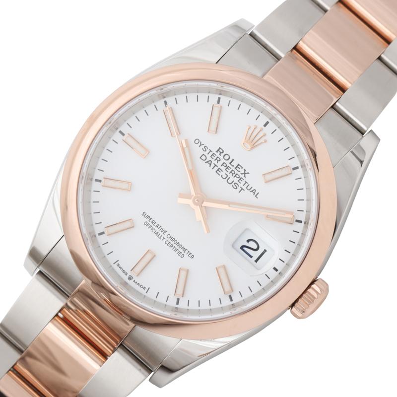 ロレックス 通信販売 腕時計 メンズ 送料無料 高級品 ROLEX 126201 中古 ホワイト 自動巻き デイトジャスト36