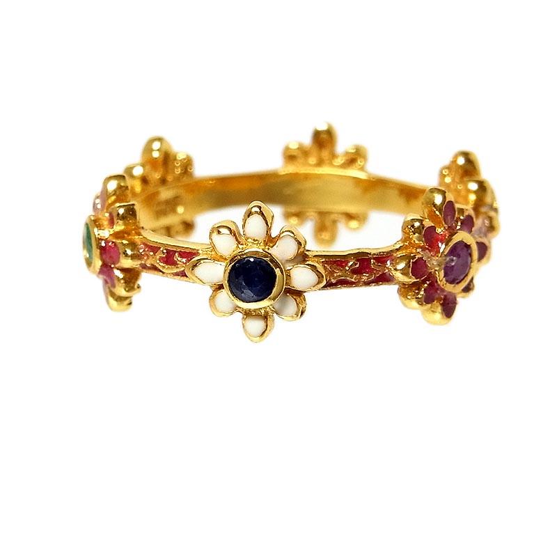 リング 指輪 レディース 送料無料 未使用品 マルチカラー ファッションリング ジュエリー 物品 シルバー925 中古