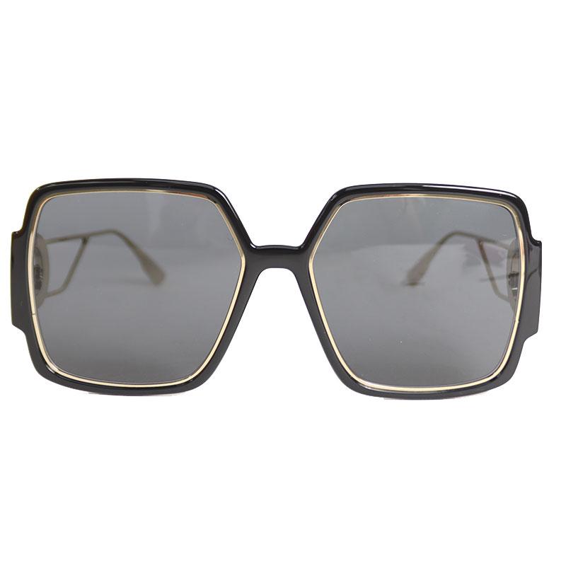 クリスチャン ディオール サングラス 有名な ユニセックス 送料無料 ブラック×ゴールド Christian Dior 中古 流行のアイテム 30MNTGN2