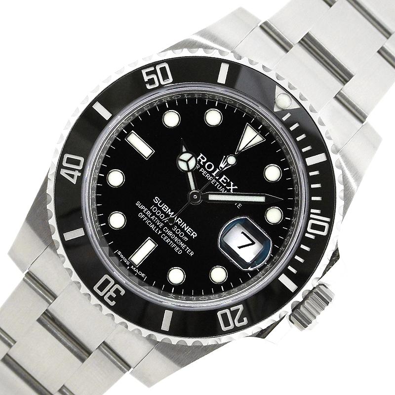 ロレックス 35%OFF 腕時計 メンズ 送料無料 公式 ROLEX サブマリーナ ブラック文字盤 中古 ランダムシリアル 116610LN 自動巻き デイト