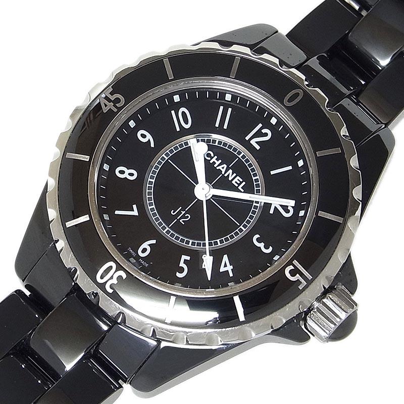 人気海外一番 シャネル 腕時計 レディース 25%OFF 送料無料 CHANEL J12 中古 クオーツ H0682