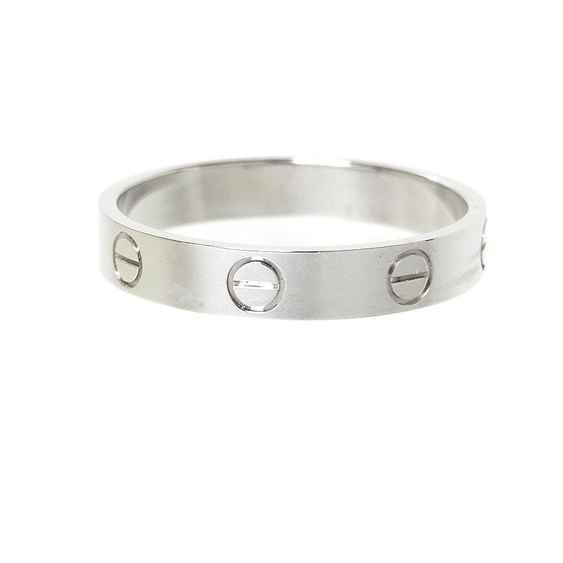 カルティエ リング 指輪 激安通販販売 レディース 送料無料 Cartier K18WG 中古 本日限定 ラブ ウェディング ジュエリー