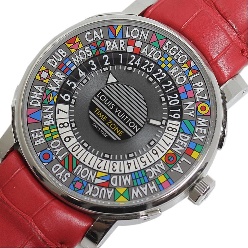 ルイ・ヴィトン LOUIS VUITTON エスカル オトマティック タイムゾーン Q5D20 自動巻き メンズ 腕時計【中古】