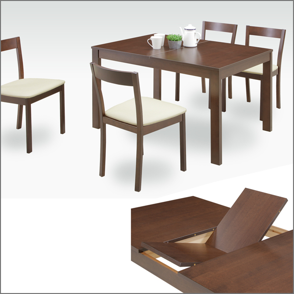 5 Point 4 Person Dining Set For Width 120 Cm 150 Extendable Table 5pcs Nordic Four Hung Rubberwood Natural Wood Modern Compact Wooden