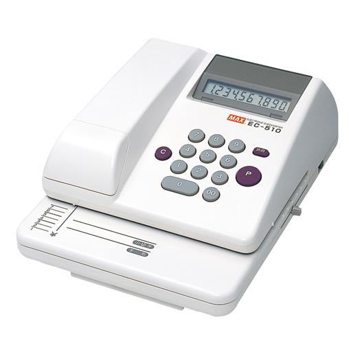 マックス[EC-510]チェックライター EC-510    ★[オフィス機器][レジ・受付窓口関連機器][チェックライター]