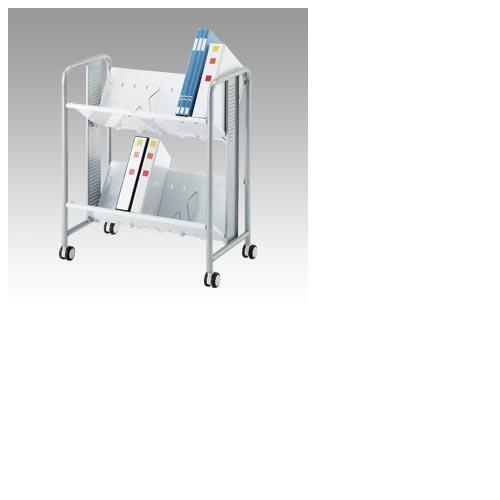 林製作所[YS-40]重量型ブックラックワゴン2段[オフィス家具][収納家具][ファイルワゴン]