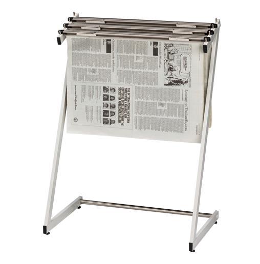 クラウン[CR-SN130-W]新聞架(スチール製)3段タイプ[オフィス家具][オフィスアクセサリー][新聞架]