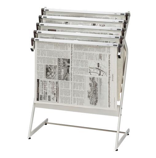 クラウン[CR-SN551-W]新聞架(スチール製)5段タイプ[オフィス家具][オフィスアクセサリー][新聞架]