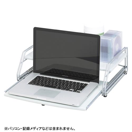 クラウン[CR-PA20-LGR]ノートパソコンラック ライトグレー[PC関連用品][PC周辺用品][パソコンラック]