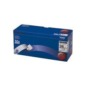 ブラザー BROTHER ピータッチ TZeテープ ラミネートテープ 36mm 透明/黒文字 業務用パック TZE-161V 1パック(5個)