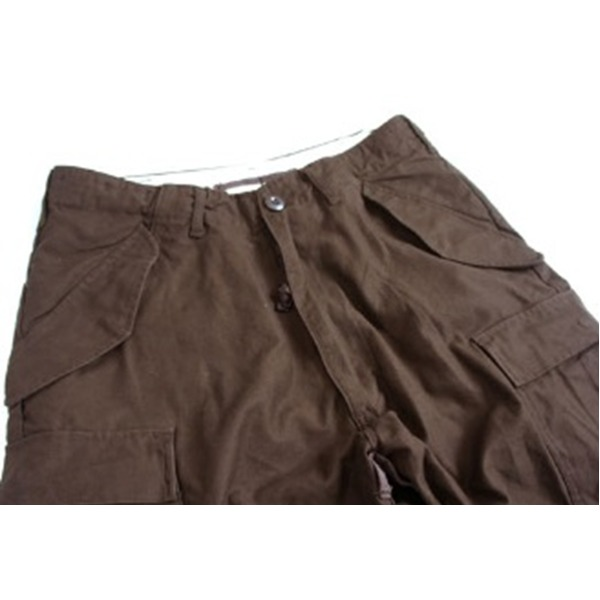 USタイプ「 M-65」フィールドショート丈パンツ ブラウン メンズ Lサイズ