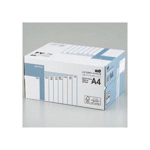 (まとめ) TANOSEE αエコカラーペーパーII A4 ライトグリーン 業務用パック 1箱(5000枚:500枚×10冊) 【×10セット】