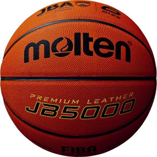 【モルテン Molten】 バスケットボール 【6号球】 天然皮革 JB5000 B6C5000 〔運動 スポーツ用品〕, 学校教材の専門店 美工社 77666035