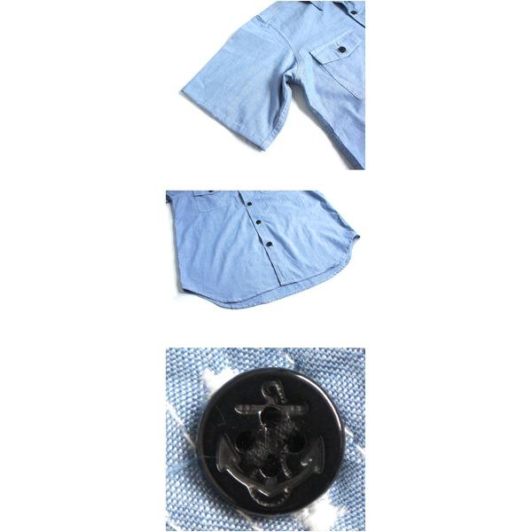 USタイプNAVYシャブレーシャツ プレーン半袖 J S080YN ブラック 38( M)