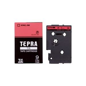 (業務用30セット) キングジム テプラTRテープ TC9R 赤に黒文字 9mm