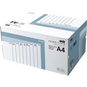 (まとめ) TANOSEE αエコカラーペーパーII A4 オレンジ 業務用パック 1箱(5000枚:500枚×10冊) 【×10セット】