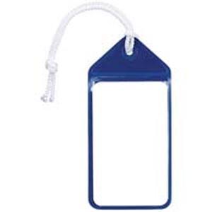 (業務用100セット) 共栄プラスチック ネームタッグ旅行名札 C-80-5-B ブルー 5枚
