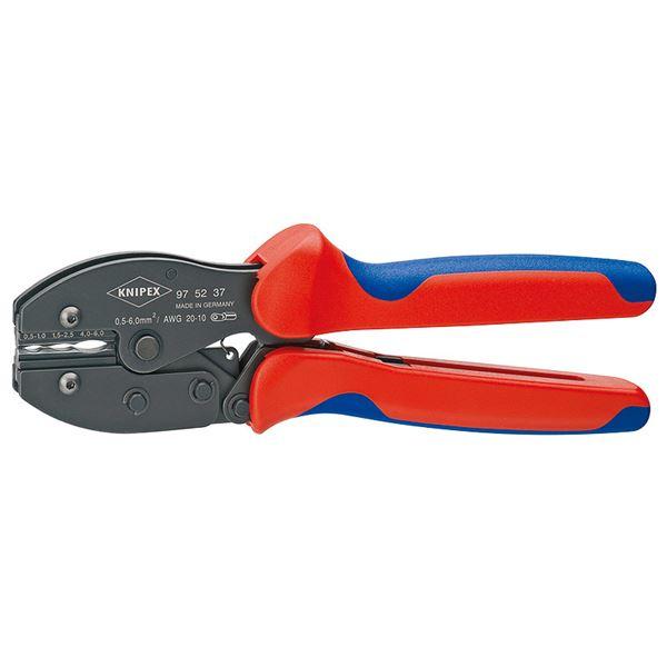 ハンダ付けを必要としない端子等の圧着作業に。 KNIPEX(クニペックス)9752-37 圧着ペンチ