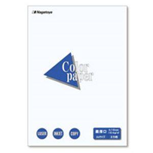 (業務用100セット) Nagatoya カラーペーパー/コピー用紙 【A4/最厚口 25枚】 両面印刷対応 ホワイト(白)