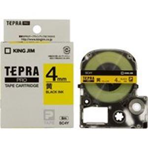 (業務用50セット) キングジム テプラPROテープ/ラベルライター用テープ 【幅:4mm】 SC4Y 黄に黒文字