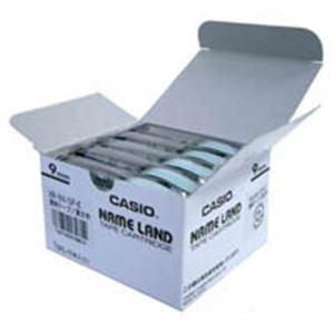 (業務用5セット) カシオ計算機(CASIO) テープ XR-9X-5P-E 透明に黒文字 9mm 5個