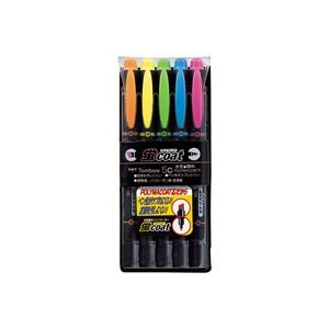 (業務用100セット) トンボ鉛筆 蛍光マーカー/蛍コート 【太字・細字/5色セット】 ツインタイプ WA-TC5C
