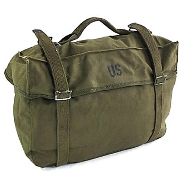 アメリカ軍放出M1945帆布綿キャンパスカーゴバック未使用デットストック