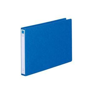(業務用50セット) LIHITLAB ツイストリング式ファイル 【B4/2穴】 ヨコ型 F834UN-5 藍