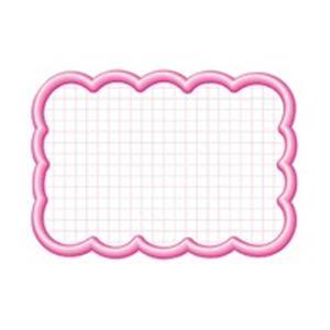 (業務用100セット) タカ印 抜型カード 16-4196 雲形大 ピンク