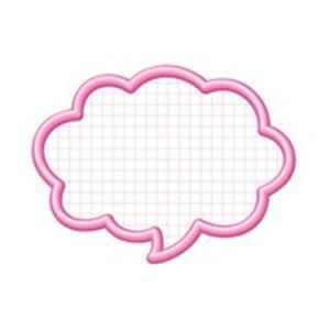 (業務用100セット) タカ印 抜型カード 16-4192 吹出大 ピンク 50枚