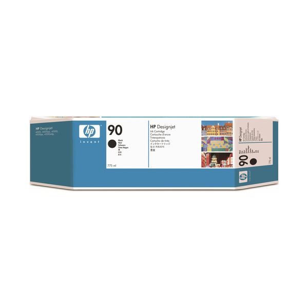 (まとめ) HP90 インクカートリッジ 黒 775ml 顔料系 C5059A 1個 【×3セット】