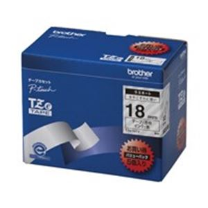 (業務用5セット) brother ブラザー工業 文字テープ/ラベルプリンター用テープ 【幅:18mm】 5個入り TZe-141V 透明に黒文字