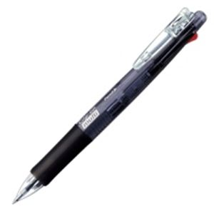 (業務用100セット) ZEBRA ゼブラ 多機能ペン クリップオンマルチ 【シャープ芯径0.5mm/ボール径0.7mm】 ノック式 B4SA1-BK 黒