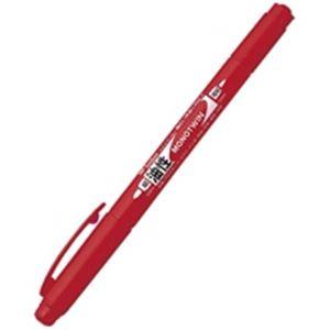 (業務用30セット) トンボ鉛筆 油性ペン/モノツイン 【極細/赤】 10本入り 油性インク OS-TME25