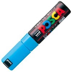 (業務用200セット) 三菱鉛筆 ポスカ/POP用マーカー 【太字/水色】 水性インク PC-8K.8