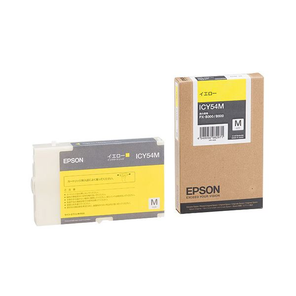 (まとめ) エプソン EPSON インクカートリッジ イエロー Mサイズ ICY54M 1個 【×3セット】