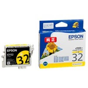 (業務用40セット) EPSON エプソン インクカートリッジ 純正 【ICY32】 イエロー(黄)