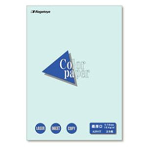 (業務用100セット) Nagatoya カラーペーパー/コピー用紙 【A3/最厚口 25枚】 両面印刷対応 水
